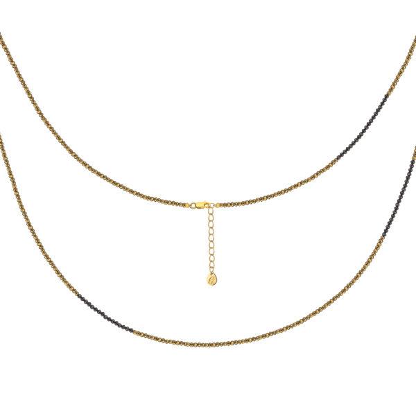 Ожерелье из золотого пирита