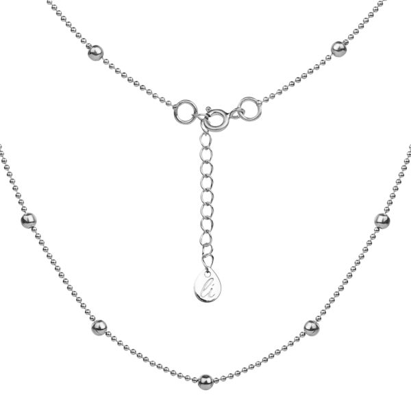 серебрянная базовая цепь с серебряными шариками