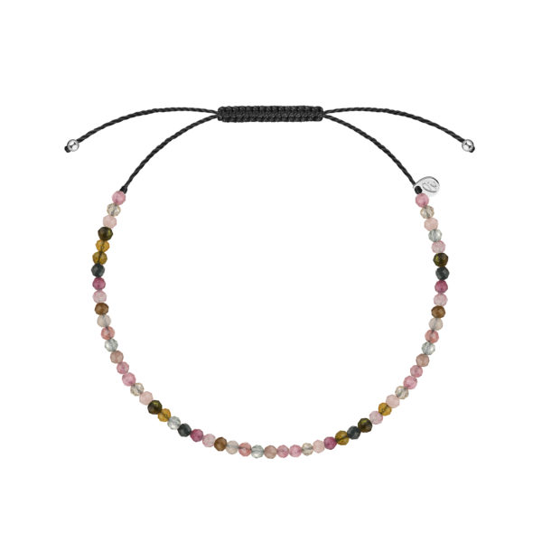 браслет из разноцветных турмалинов
