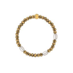 Кольцо из золотого пирита с жемчугом