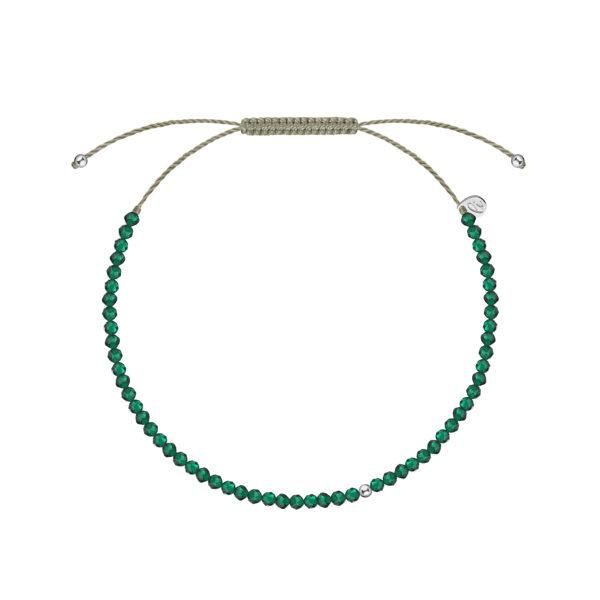 браслет из зеленой шпинели