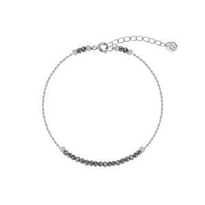 серебряный браслет с серебряными пиритами