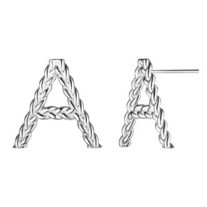 Серебряные серьги с буквами А